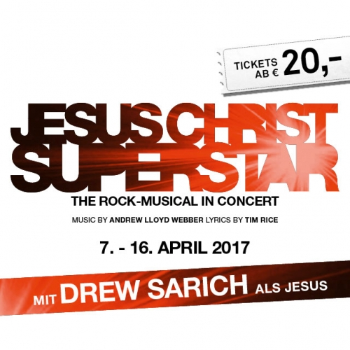Jesus Christ Superstar 2017 Logo Ticket © VBW